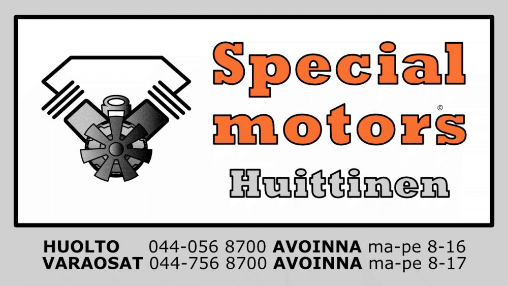 huittisten specialmotors oy logo aukioloajat huolto- ja korjauspalvelut, varaosat, tarvikkeet hs-motors.com